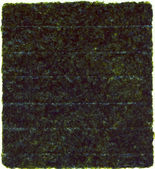 Getrocknete nori-blatt isoliert weiß — Stockfoto