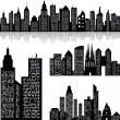Stock Vector: City skyline vector background