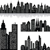 City skyline vector background — Stock Vector