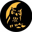Owl stencil — Stock Vector