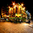 Temple Bar Street in Dublin, Ireland - Stock Photo