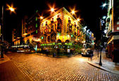 Temple Bar Street in Dublin, Ireland — Stock Photo