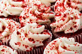 Red Velvet Cupcakes — Stock Photo