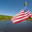 American flag waving in the wind — Stock Photo #9452390