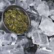 Stock Photo: Ice Cubed Green Tea