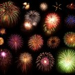 Multi Colored Fireworks Collection - Stock Photo