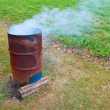 Burning Barrel — Stock Photo
