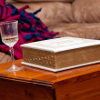 Wine and the Bible — Stock Photo