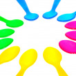 Colorful Spoons — Stock Photo