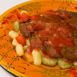 Steak with Gnocchi - Stock Photo