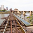 Stock Photo: Railroad Tracks in Saint Paul