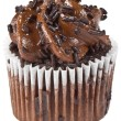 Stock Photo: Chocolate Cupcake Isolation