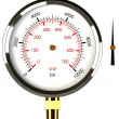 Stock Photo: Pressure Gauge with Needle