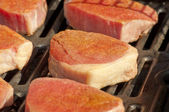 Steaks on the Grill — Stock Photo