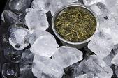 Ice Cubed Green Tea — Stock Photo