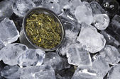 Ice Cubed Green Tea — Stock Photo