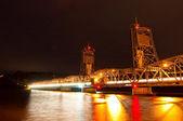 Nighttime Liftbridge — Stock Photo