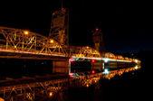Lift bridge at Night — Stock Photo