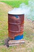 Burning Barrel — Stock Photo