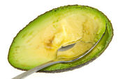 Avocado with a Spoon — Stock Photo