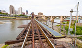 Railroad Tracks in Saint Paul — Stock Photo