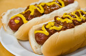 Chili Dogs — Stock Photo