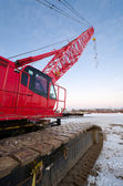Red Crane — Stock Photo