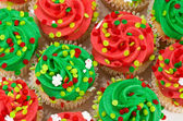 Red and Green Cupcakes — Stock Photo