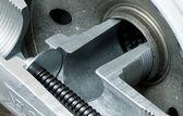 Hydraulic Filter Bypass Closeup — Stock Photo