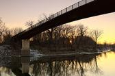 Minnesota river zonsondergang — Stockfoto