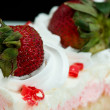 Pink Strawberry Whipped Cream Cake — Stock Photo