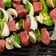 Stock Photo: Shish Kabobs on Grill