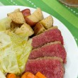 Corned Beef Cabbage - Stock Photo