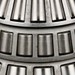 Stock Photo: Roll Pin Bearings Closeup