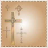 Christian cross decorated background for different uses — Stock Vector