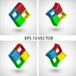 Royalty-Free Stock Vector Image: Set of four logotypes for different uses