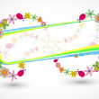 Royalty-Free Stock Vector Image: Vector frame with summer floral objects