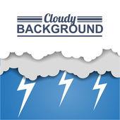 Flyer or Cover cloudy Design — Stock Vector