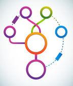 Fluxograma de marketing círculo vazio cor — Vetorial Stock