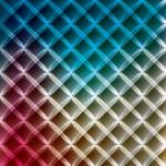 Neon abstract lines grid on dark background vector — Stock Vector