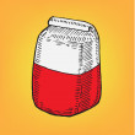 Bag of flour cartoon — Stock Vector #9828440