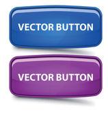 Vector Rectangular Glass Button — Stock Vector