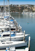 Barcos fondeados en Dana Point Harbor #2 — Foto de Stock