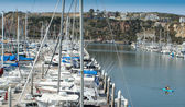 Boats at anchor at Dana Point Harbor #3 — Stock Photo