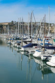 Boats at anchor at Dana Point Harbor #4 — Stock Photo