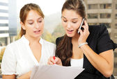 Two women doing business — Stock Photo