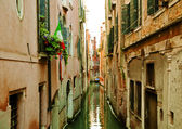 Venice´s interior canal — Stock Photo