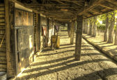 Beautiful HDR shot of the stables at a vineyard — Stock Photo