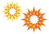 The origami Sun — Stock Vector