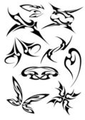 Pictures of different tattoos — Stock Vector